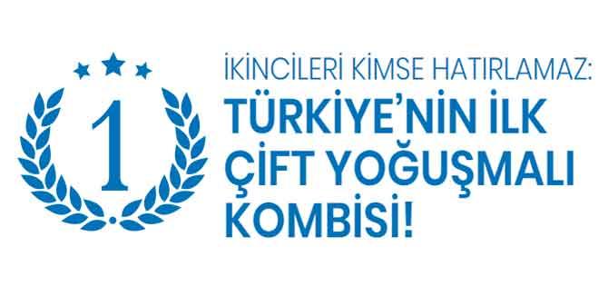 kombide dünya markası olan alarko Türkiye'nin ilk çift yoğuşmalı kombisini üretmiştir