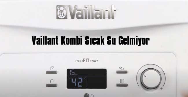 vaillant kombi kullanım suyu ısıtmıyor